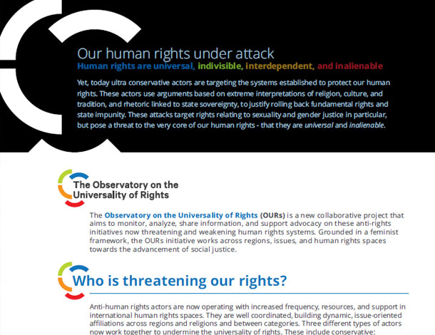 OURs flyer - ENG - Our human rights under attack (610x470)