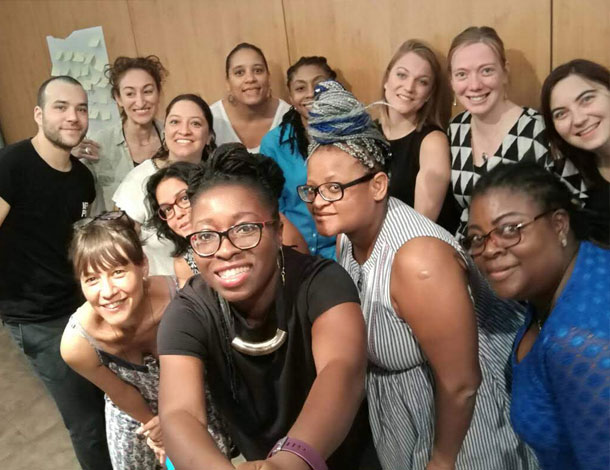 Participants of the AWID/ MamaCash media engagement training (610x470)