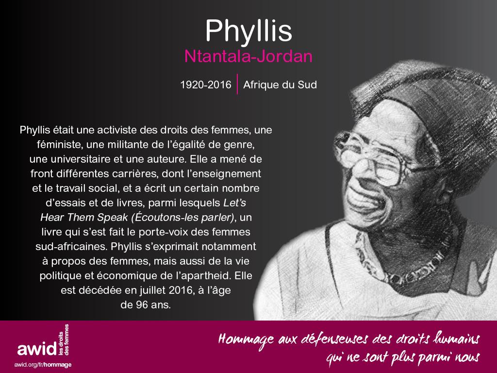 Phyllis Ntantala-Jordan (FR)