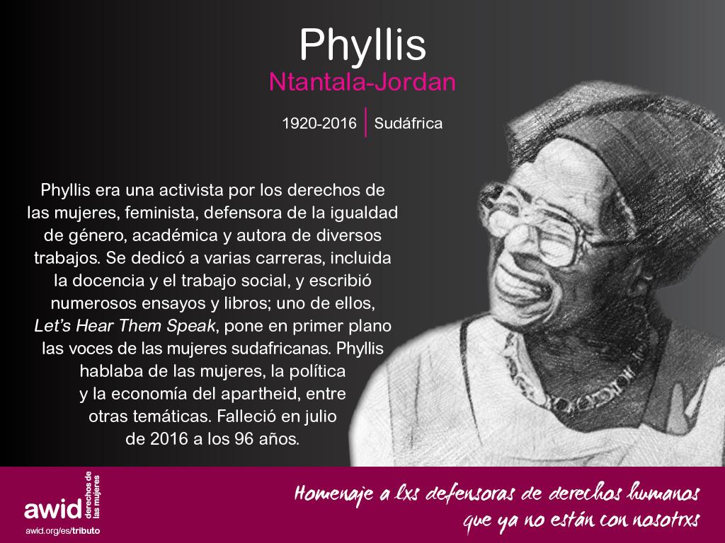 Phyllis Ntantala-Jordan (SP)