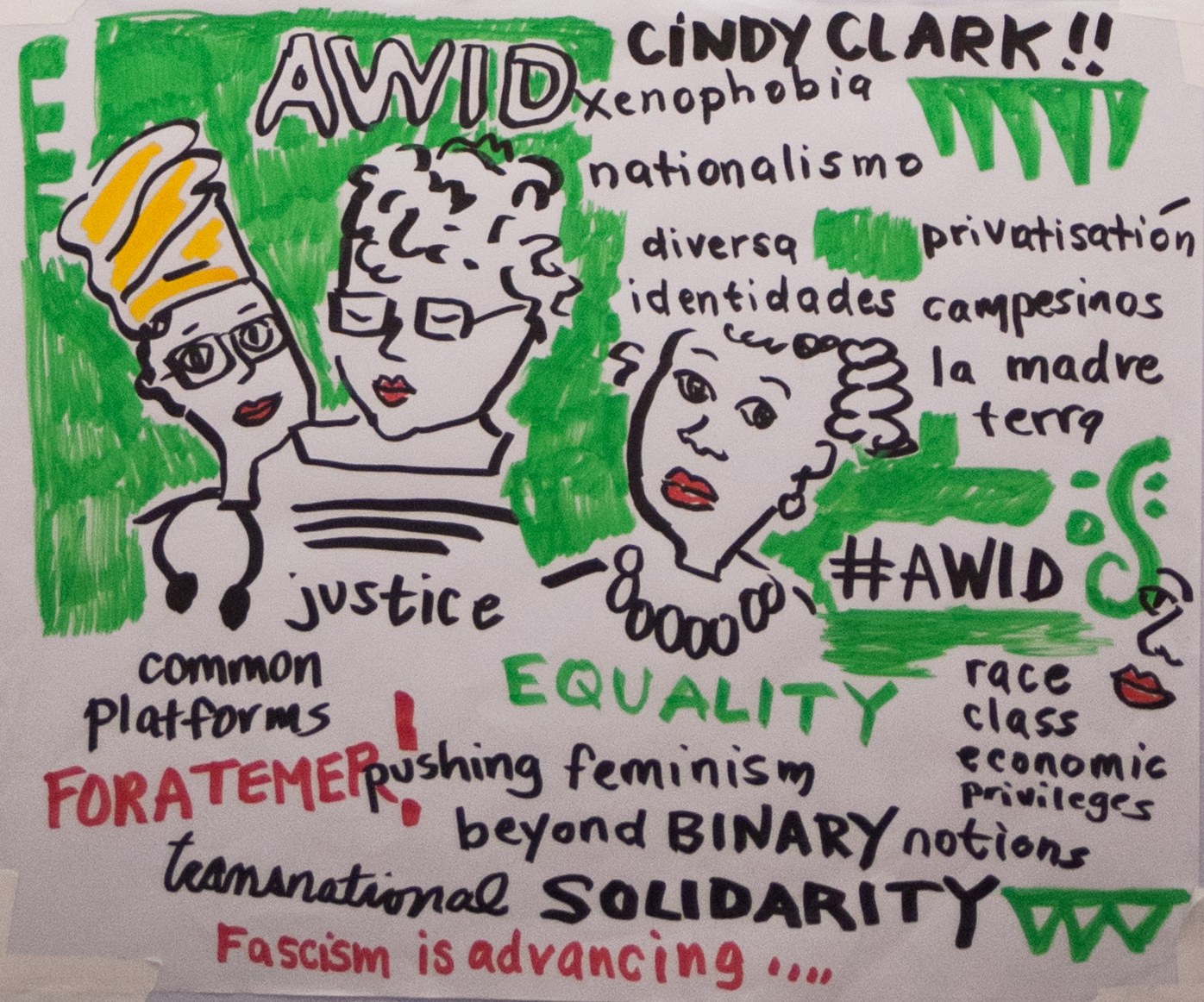 AWID Forum - Illustration: Opening plenary - Announcement