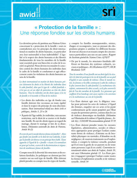 Cover-Protection of the Family (FR) 460x600