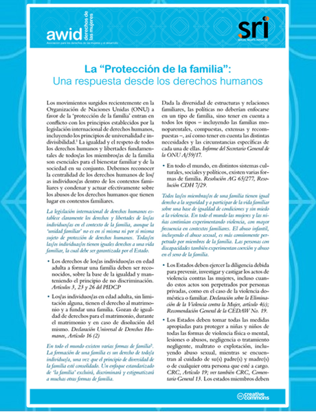 Cover-Protection of the Family (SP) 460x600