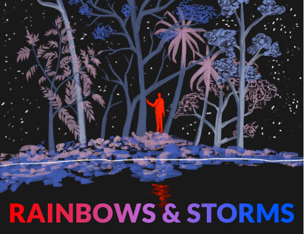 Curated conversation - Rainbows & Storms - artwork (610x470)