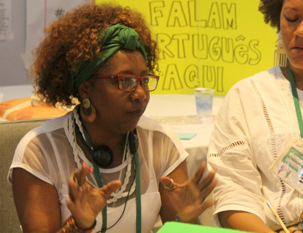 Reclaiming Democratic Spaces session at the 2016 AWID Forum - Sanyu Awori (610x470)