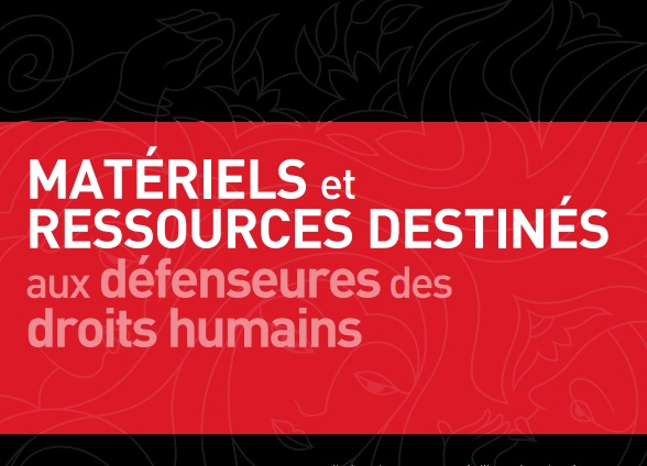 Ressources pour les défenseuses des droits humains - main