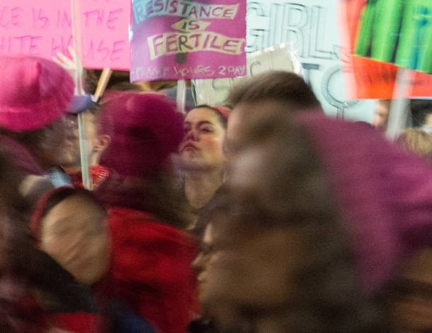 RFM - Autonomous Resourcing (Women in a crowd with pink hats - Flickr, Peg Hunter)