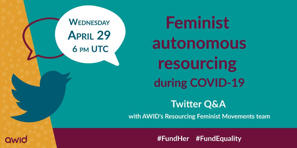 Feminist Autonomous resourcing - Twitter promo