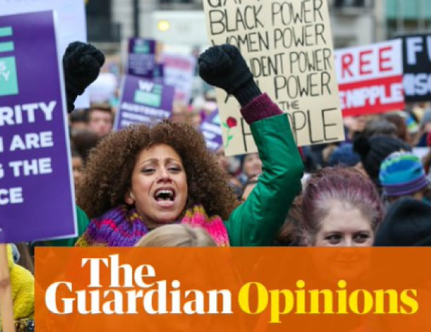 The Women Demand Bread & Roses protest in London, January 2019. Photograph: Dinendra Haria/Alamy (from The Guardian website)