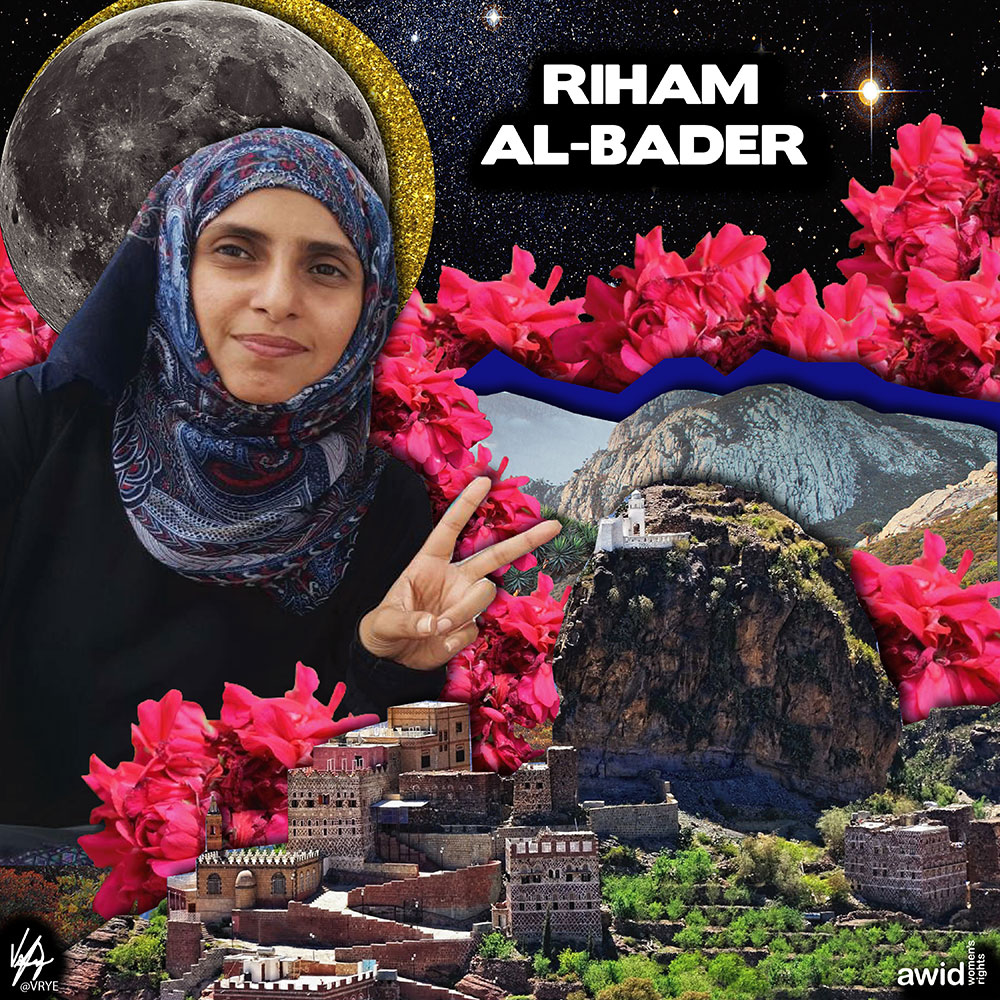 "<strong>Riham </strong>was a lawyer and activist committed to monitoring rights violations in Yemen. She worked to supply civilians trapped by Houthi militias with food and water.<br /><a href=""https://www.awid.org/whrd/riham-al-bader"" title=""WHRD - Riham Al Bader"">Read more > </a>"