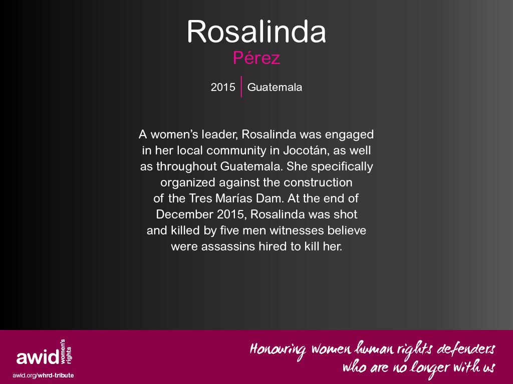 Rosalinda Pérez (EN)
