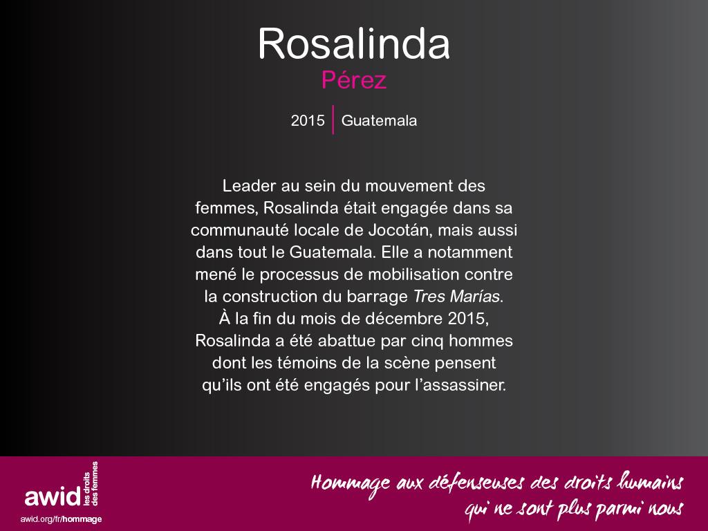 Rosalinda Pérez (FR)
