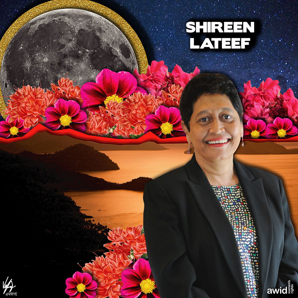"<strong>Shireen </strong>was an inspiration to many feminists in Fiji and a powerful ally to the women's movement. She advocated tirelessly for gender equality locally and regionally.<br /><a href=""https://www.awid.org/whrd/shireen-lateef"" title=""WHRD: Shireen Lateef"">Read more ></a>"
