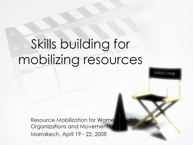 Skills building for mobilizing resources