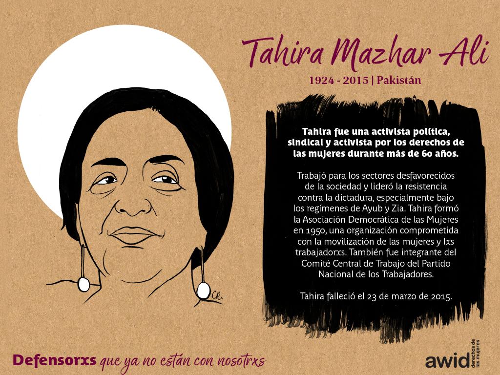 Tahira Mazhar Ali (SP)