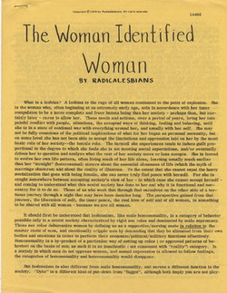 The Woman Identified Woman Manifesto