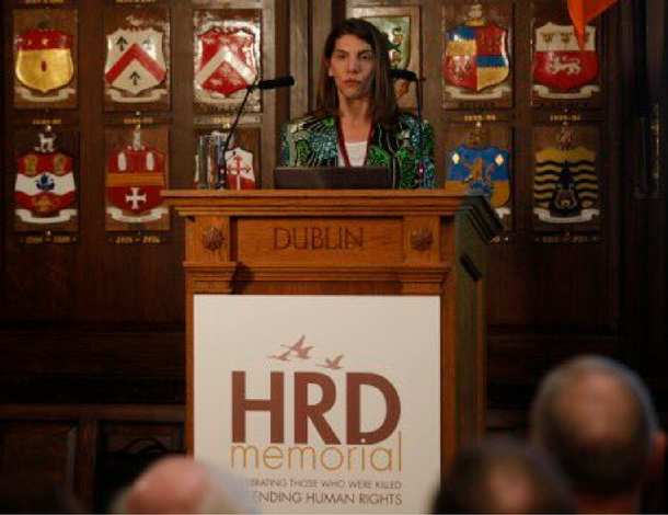 Veronica Vidal HRD memorial project Dublin