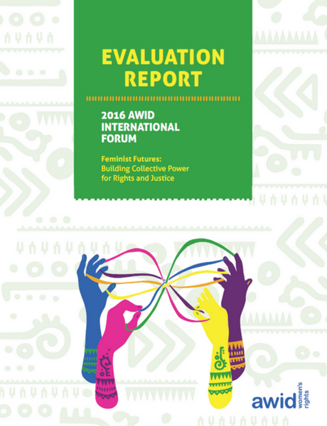2016 AWID Forum Evaluation Report cover