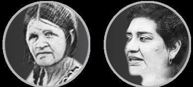 WHRD Tribute - portrait bubble - Nilce de Souza Magalhães & Brenda Marleni Estrada Tambito