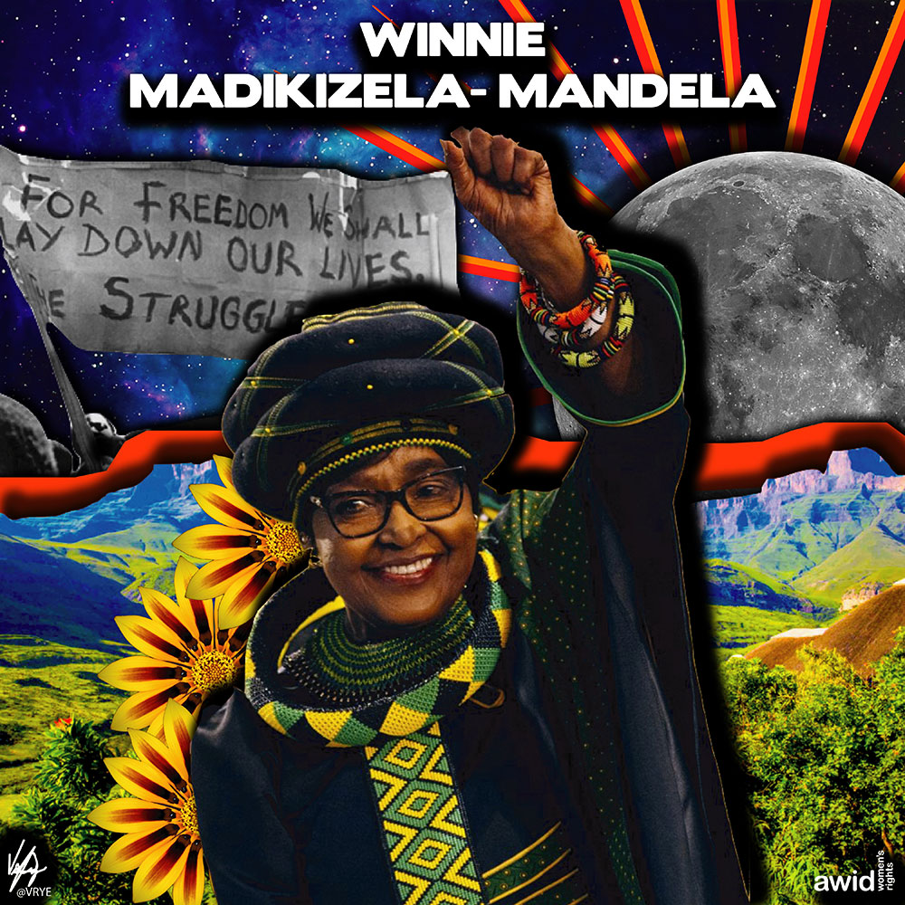 "<strong>Winnie </strong>(Ma'Winnie) has been described as a ""militant firebrand activist"" who fought the apartheid regime in South Africa.<br /><a href=""https://www.awid.org/whrd/winnie-madikizela-mandela"" title=""WHRD: Winnie Mandela"">Read more &gt;</a>&nbsp;"