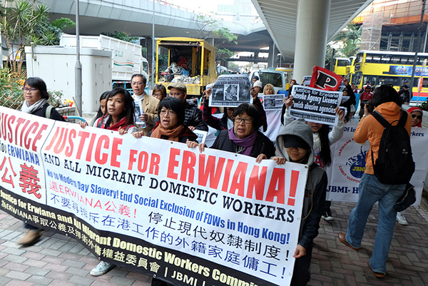 Movement Series: Women's Groups in Hong Kong demonstrate to end abuses against migrant domestic workers