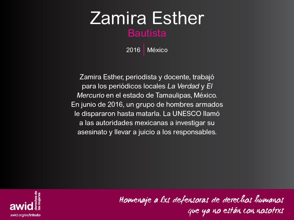Zamira Esther Bautista (SP)