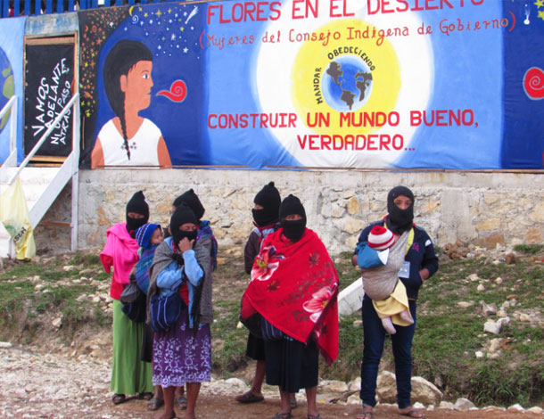 Zapatista women -  Women with babies (610x470)
