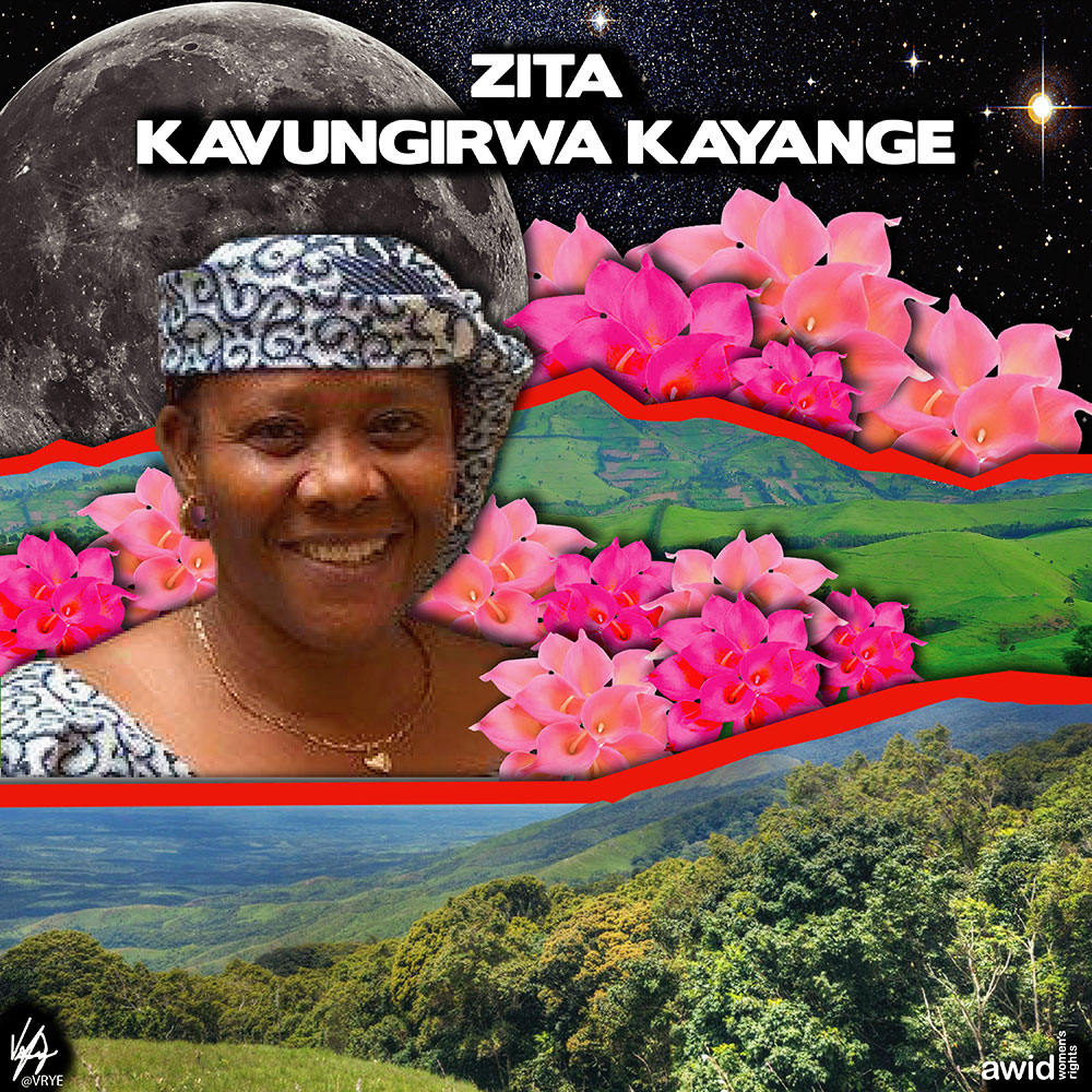 "<strong>Zita</strong> was a women's rights activist who defended the rights of rural women in Greater Kivu, Democratic Republic of Congo.<br /><a href=""https://www.awid.org/whrd/zita-kavungirwa-kayange"" title=""WHRD: Zita Kavungirwa Kayange"">Read more ></a>"